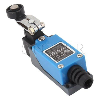 Waterproof Roller Arm Type AC Enclosed Limit Switch ME-8104 Blue Adjustable