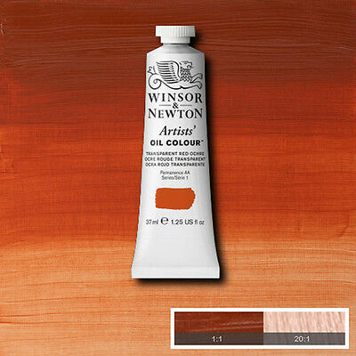 Winsor  & Newton Artists Oil Color  Paint Transparent Red Ochre 37ml 1214-647