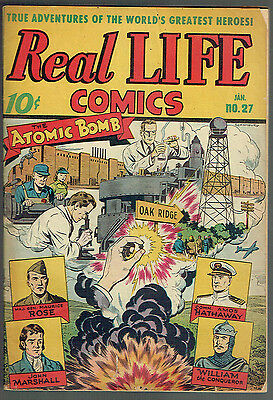 REAL LIFE COMICS 27  VG/FN/5.0  -  Awesome A-Bomb Story!