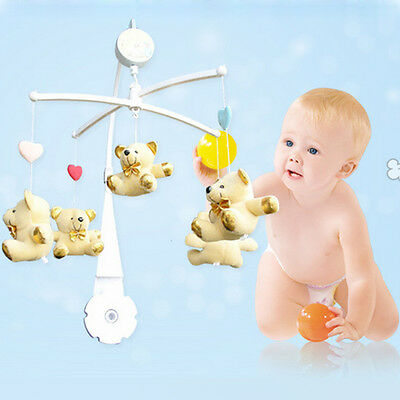 5pcs Baby Crib Mobile Bed Bell Toy Holder Arm Bracket + Wind-up Music Box Toys