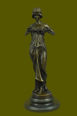 "Signed Pittaluga. Bronze Statue art deco girl dancer ""ILLUSION OF VIRTUE"" . Deco"