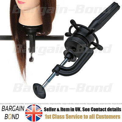 Mannequin Head Clamp ClampHolder Table Manikin Cosmetology Salon Training Holder