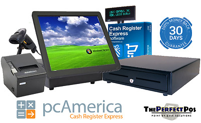 All In One System For Retail Store Featuring Cash Register Express