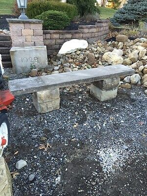 Antique Five Piece Stacked Stone Garden Bench