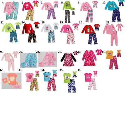 """Dollie & Me 4-14 and 18"""" doll matching Pajamas set fit american girl"""