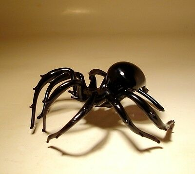 Blown Glass Figurine  Art Insect Black Tarantula SPIDER