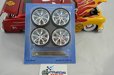 1:24 scale Star Rims and Tyre set ( 4 pcs ) suitable for 1:24 model car
