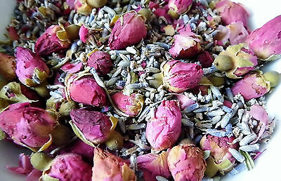 Pure Rosebud & Lavender Flower Pot Pourri with Lavender & Rose Essential Oils
