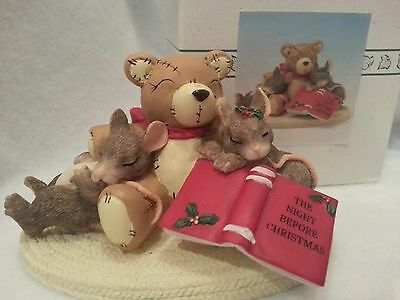 FITZ & LOYD CHARMING TAILS Not A Creature Stirring Figurine 87/704