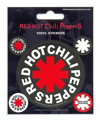 Red Hot Chili Peppers Logo Vinyl Stickers Official Carded