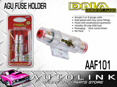 Dna Agu Fuse Holder With 50 Amp Fuse Accepts 4 Or 8 Gauge Cable - Fuse Included