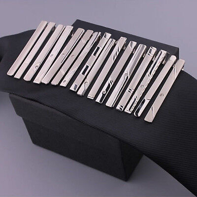 Hot New Gentleman Silver Metal Simple Necktie Tie Clip Bar Clasp Practical