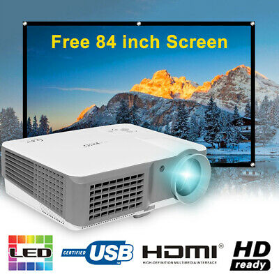 4000Lumens HD Multimedia LCD LED Projector Home Cinema Theater HDMI USB AV 1080p