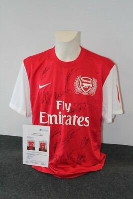 Arsenal London Trikot, Teamsigniert, XL