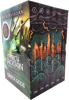 Percy Jackson Complete Series Collection 5 Books Box Set Gift Pack Rick Riordan