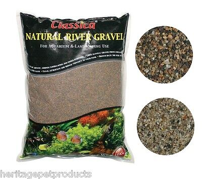 AQUARIUM FISH TANK NATURAL RIVER GRAVEL SUBSTRATE DECOR SAND DECORATION 1-2mm