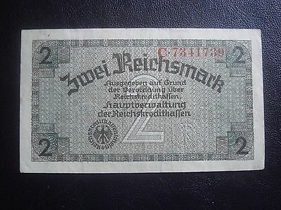 Germany Latvia 2 Reichmark  mark  (1941-1945)  Nazi Occupation WWII  (1)