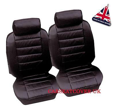 VW Caddy Maxi Camper - Luxury Padded Leather Look Van Seat Covers - 2 x Fronts