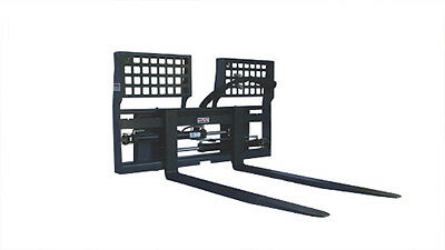 New 4' Hydraulic Sliding Pallet Fork Skid Steer Attachment *FREE SHIPPING*