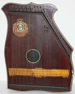 Antique SCHUTE MARKE ZITHER Guitar - FREE Postage [PL1666]