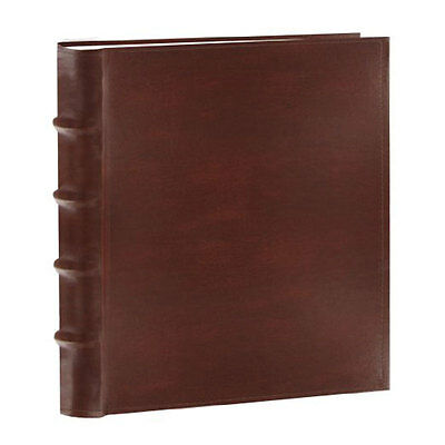 "Pioneer Bonded Leather Photo Album Brown 100 Slip In Pockets  Up To 4"" x 6"""