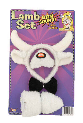 Lamb/Sheep Animal Costume Fancy Dress Up Accessory set with sound!,  One-Size