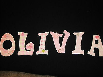 9: wooden Handmade decorated letters custom orders $8.00 per letter.