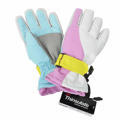 Winter Girls' Warm Outdoor Windproof Waterproof Ski Skiing Snowboard Gloves