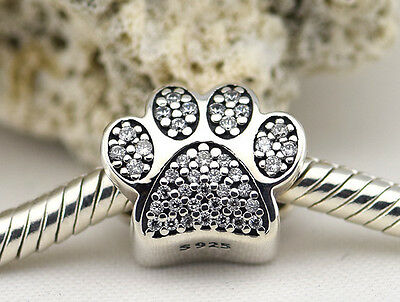 ANIMAL PAW 925 Sterling Silver Solid European Charm Bead for Bracelet