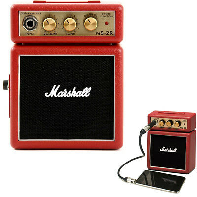 Marshall MS-2R Red Portable Micro Amplifier Amp Speaker for Electric Guitar