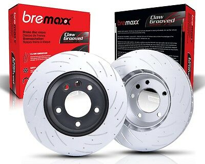 Bremaxx SLOTTED new brake disc rotors front for Mercedes ML280 ML320 ML350 W164