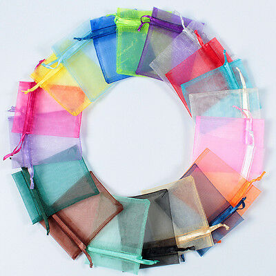 25/50/100Pcs Mixed Organza Wedding Party Favor Gift Candy Bag Jewelry Packaging