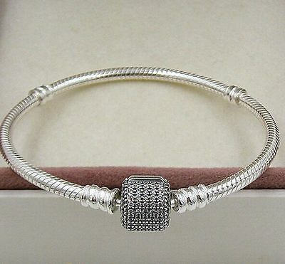 Pave Snake Charm Bracelet 925 Solid Sterling Silver Cubic Ziconia High Quality