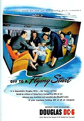 """Marilyn Monroe 1946 Douglas DC-6 Airview 1st MM Original Ad 10x13"""" Norma Jeane"""