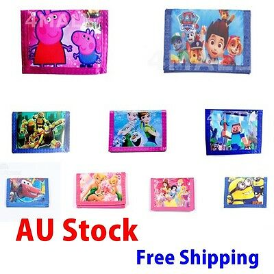 1 PC Girls Kids Boys Teen Coin Purse Notecase Wallet Xmas Gift Billfold MoneyBag