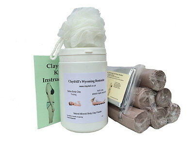 1 Litre Bums Tums Body Wrap Kit with 6 Ace Type Body Wrap Bandages