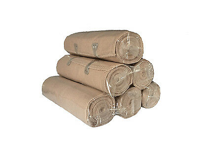 6 Salon Quality Body Wrap Bandages (15cm*4.5m) with Fastening Clips