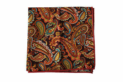 Frederick Thomas multi coloured paisley pocket square handkerchief FT2133