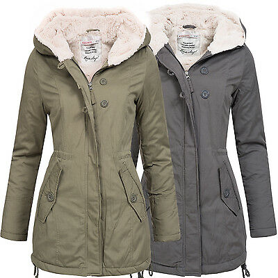 rock angel baumwoll parka damen winter jacke mantel parka duffle kapuze 44275a eur 39 90. Black Bedroom Furniture Sets. Home Design Ideas