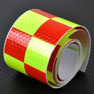 """Chequer Night Reflective Safety Warning Conspicuity Tape Strip Sticker 2""""X118"""""""