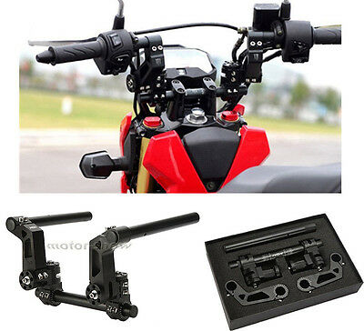 """Black 125cc 22mm 7/8"""" Motorcycle Scooter Adjustable Steering Handle Bar System"""