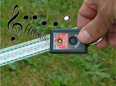Electric Fence Pocket Keyring Tester walkers hikers ramblers Rope tape checker