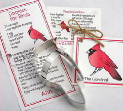 Ann Clark CARDINAL & HOLLY Tin Plated Steel Cookie Cutter DUO