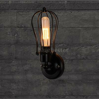 E27 LIXADA Retro Lamp Light Holder Rustic Wall Sconces Mounted for Ceiling I8NA