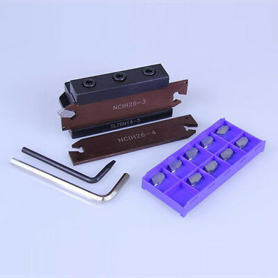 """15 Pc 3/4"""" Shank Carbide Indexable Cut-Off Tool System Set Kit"""