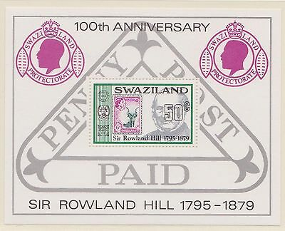 (ZE-39) 1979 Swaziland M/S death of the Rowland Hill
