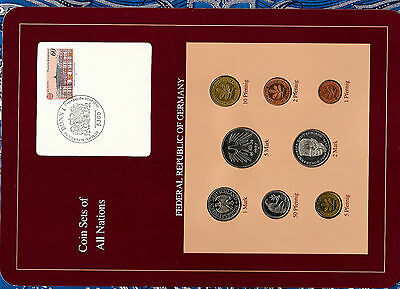 Coin sets of all nations Germany 1987-1989 UNC 2,1 Mark 1989 5 Mark 1987