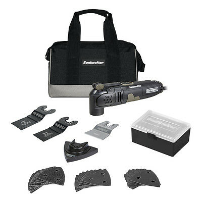 31pc ROCKWELL SONICRAFTER OSCILLATING MULTI PURPOSE TOOL SET CUT SAW SCRAPE SAND