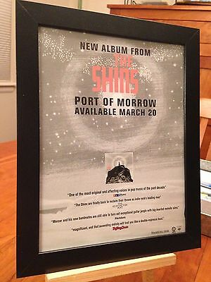 "Framed Original The Shins ""port Of Morrow"" Lp Album Cd Promo Ad"