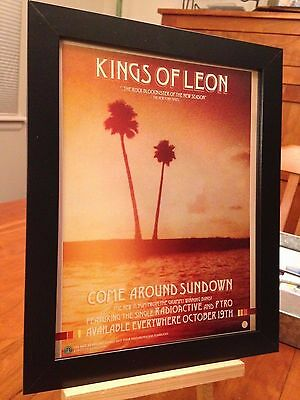 """1 FRAMED KINGS OF LEON """"COME AROUND SUNDOWN"""" CD & TOUR """"PROMO AD"""" - 2 available!"""